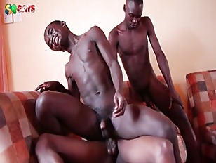 Black African On Hardcore Threesome