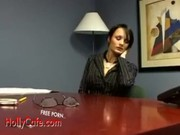 Alektra Blue Raven Secretary Office Surprise