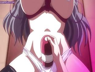 Crazy Anime Rubbing A Shemale Cock