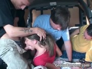 Hot Group Sex In The Car During Driving