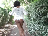 Ebony Babe Mels Teasing Public Flashing And Outdoor