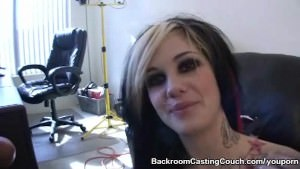 Goth Girl Interviewee ASS FUCKED
