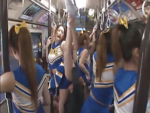 Horny Japanese Cheerleader