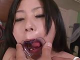 Brunette Teen Swallow Cum Wearing A Mouth Opener