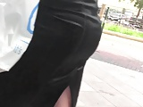 Candid Bubble Butt In Satin Skirt Pt. 2